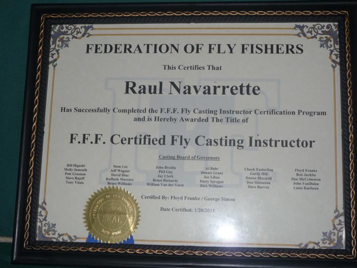 Raul's Certificate