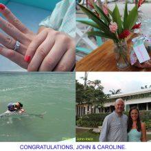 Congratulation, John and Caroline