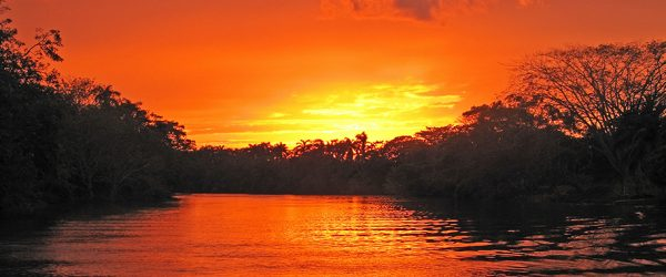Sunset on Belize Olde River