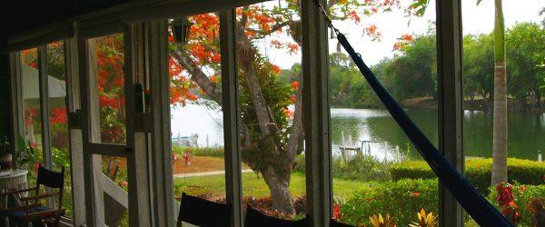 BRL Main Porch overlooing the Belize Olde River